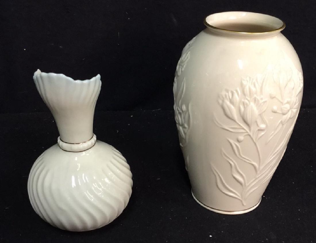 Lenox And Belleek Porcelain Vases
