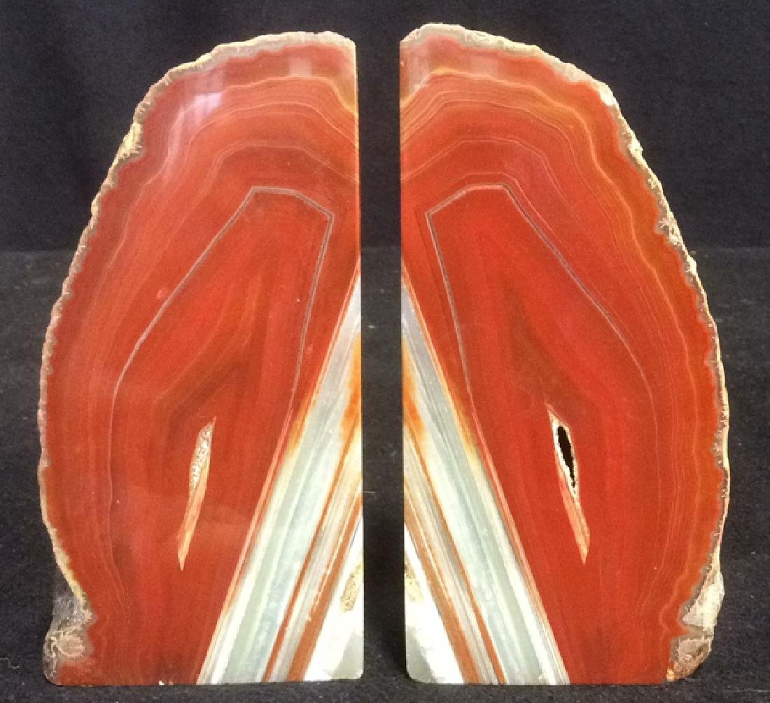 Pair Polished Stone Bookends - 3