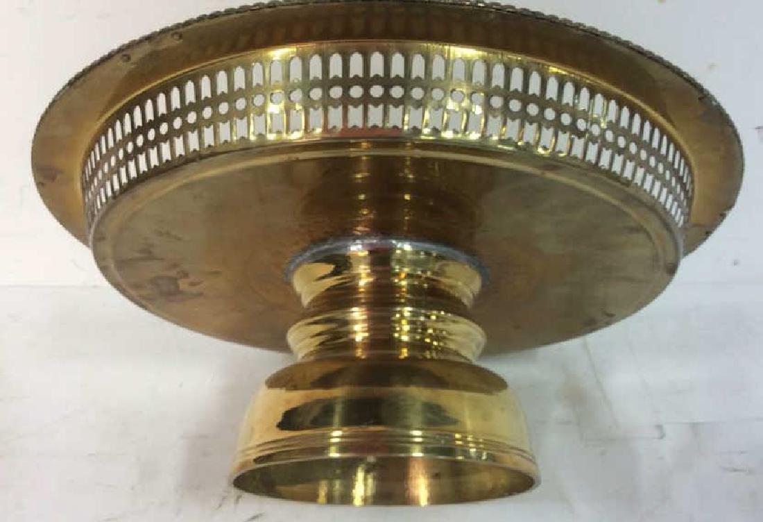 Embossed brass Centerpiece Pedestal Bowl - 7