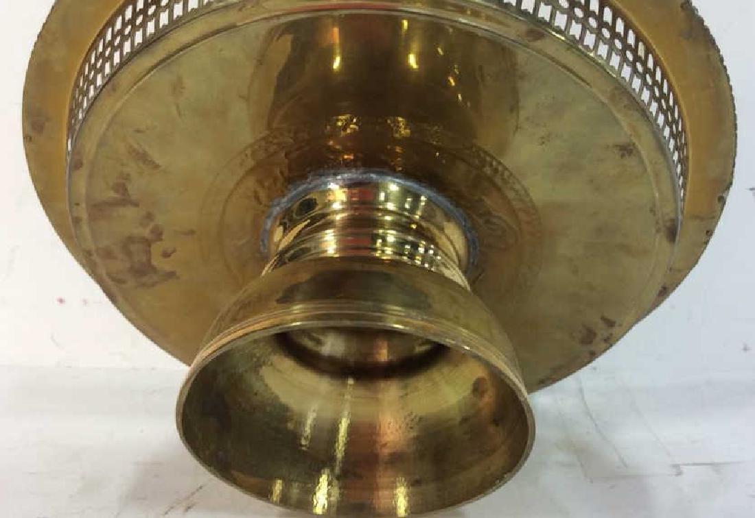 Embossed brass Centerpiece Pedestal Bowl - 8