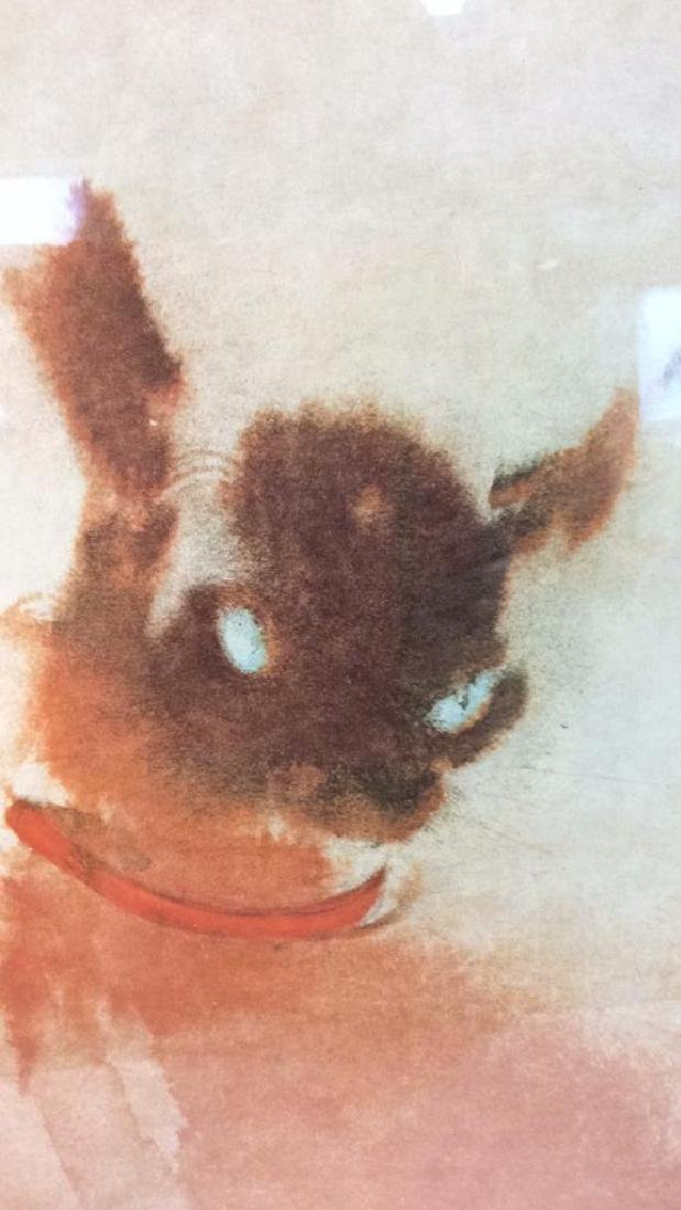 Vintage Signed Siamese Cats Artwork - 6
