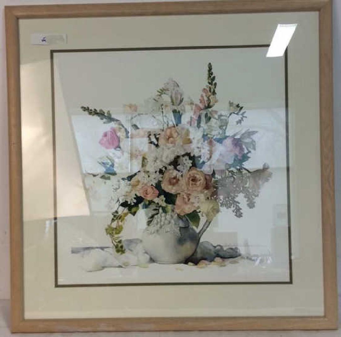 Signed Framed Floral Still Life - 2