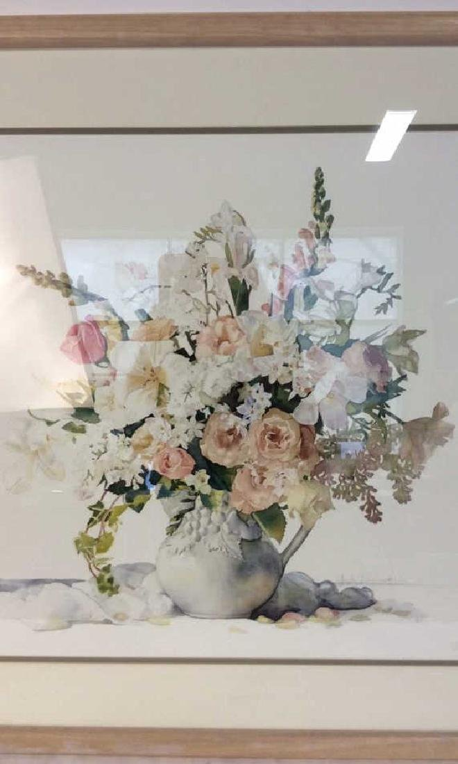 Signed Framed Floral Still Life - 3