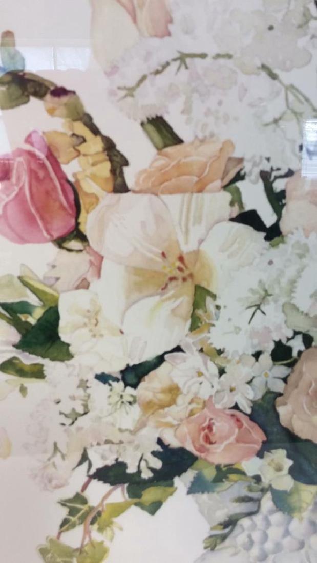 Signed Framed Floral Still Life - 5