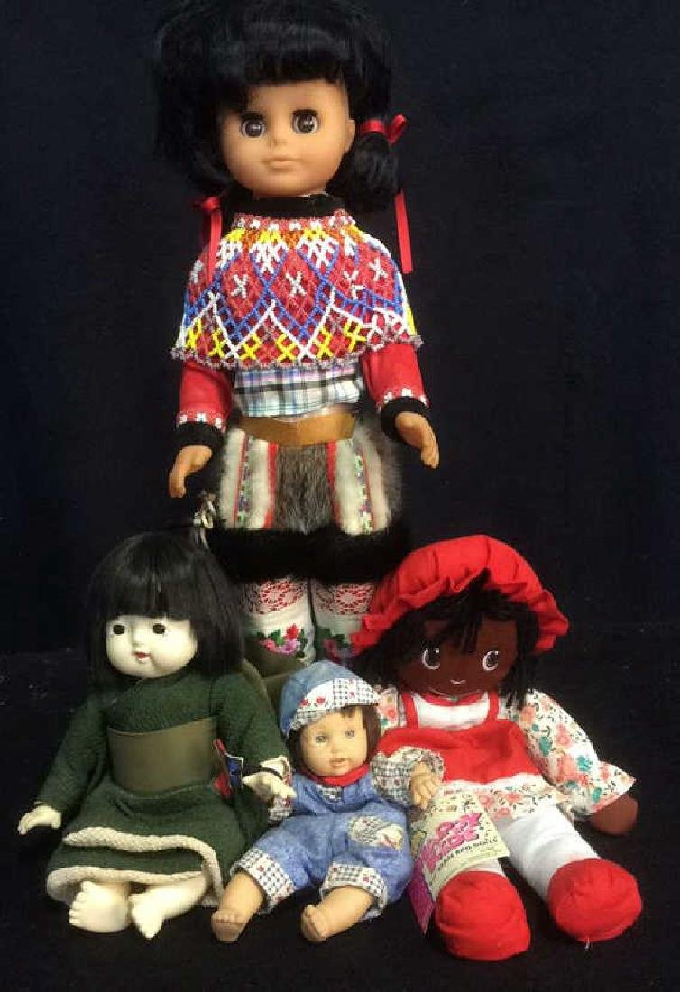 Group Lot of 4 Collectible Dolls