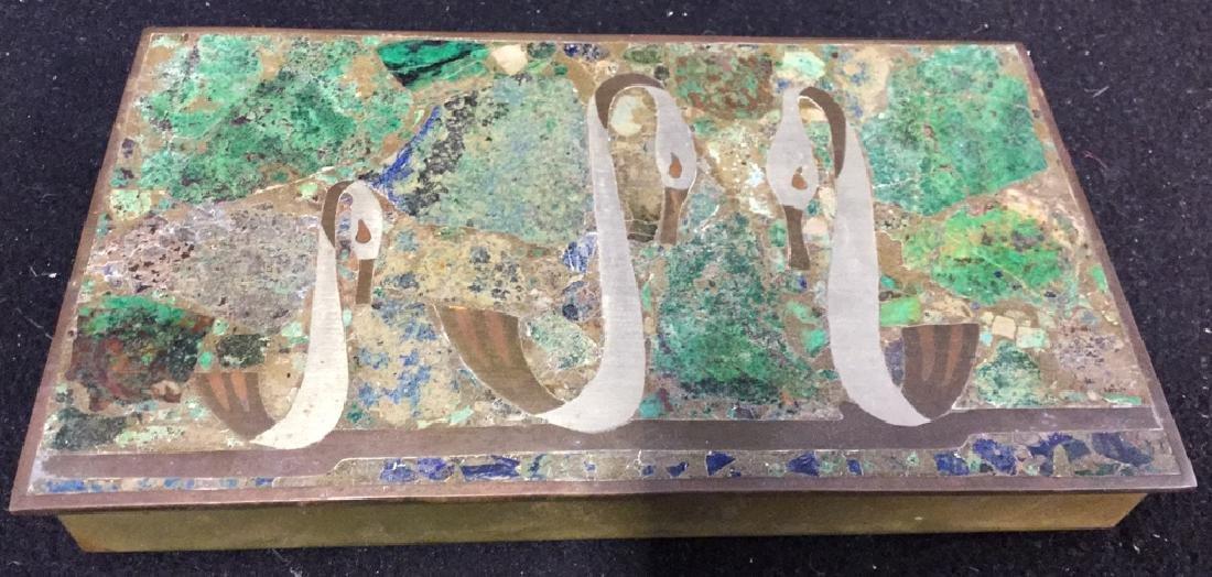 Vintage Brass Inlaid Box