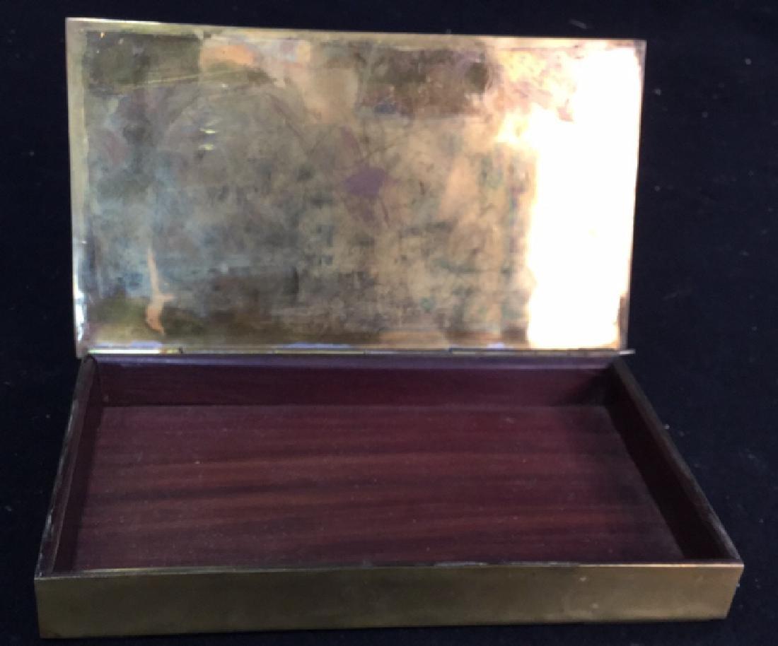 Vintage Brass Inlaid Box - 4