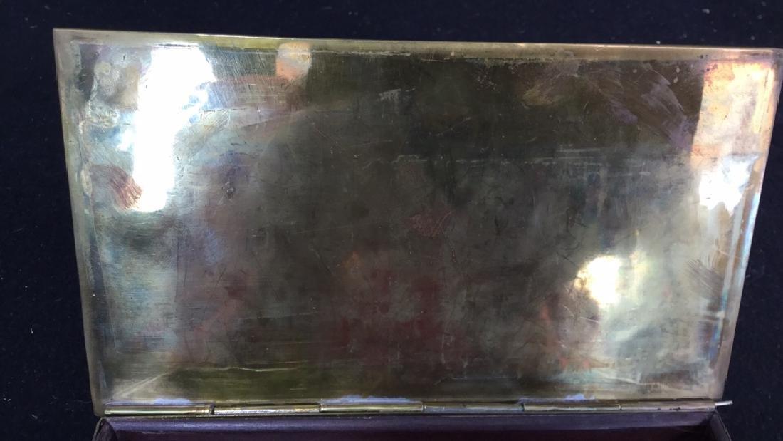 Vintage Brass Inlaid Box - 5
