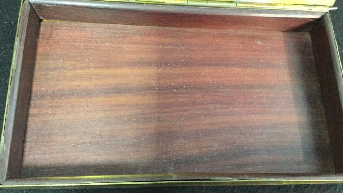 Vintage Brass Inlaid Box - 6