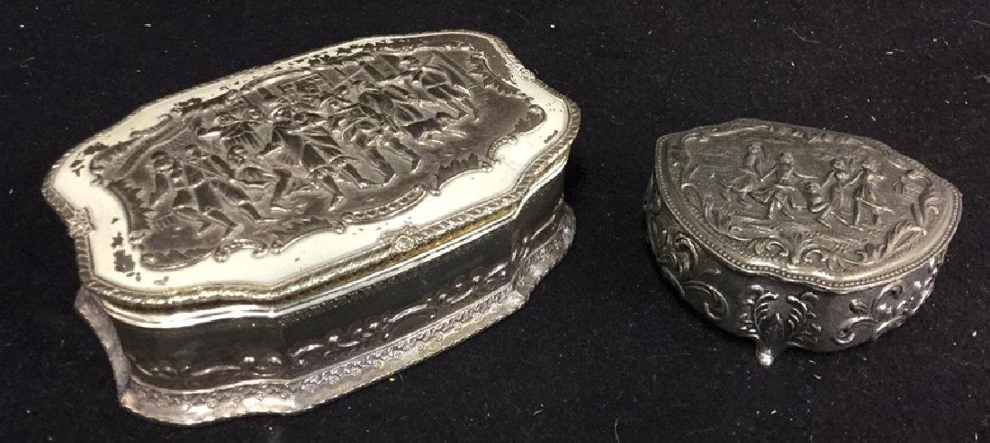 2 Silverplate Keepsake Boxes