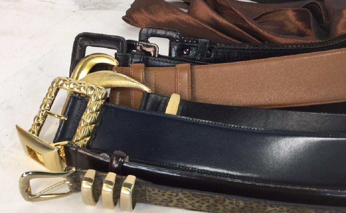 Group Lot Of Vintage Ladies Belts