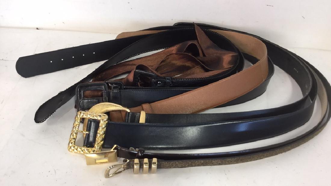 Group Lot Of Vintage Ladies Belts - 2