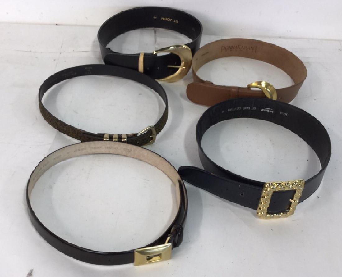 Group Lot Of Vintage Ladies Belts - 8