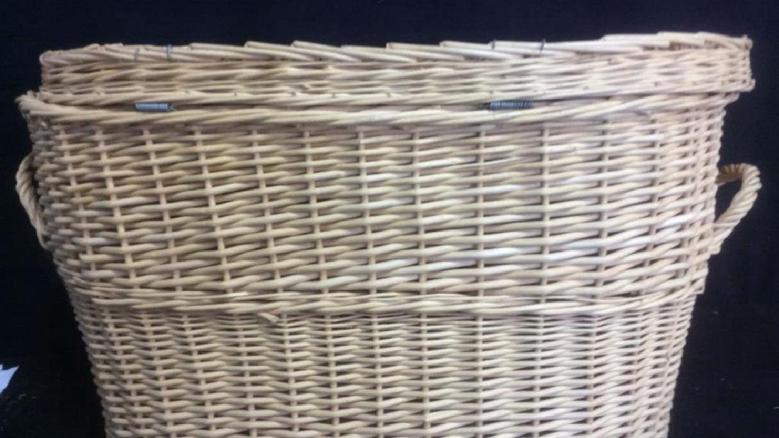 Lidded Double Handled Wicker Storage Basket - 6