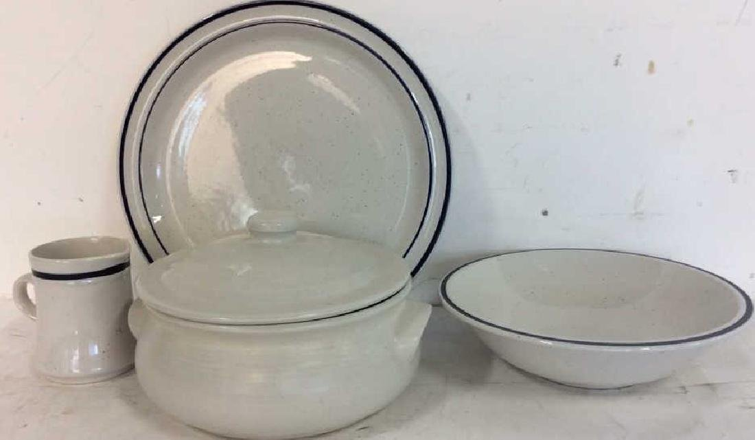 4 Stoneware Tabletop Items - 2