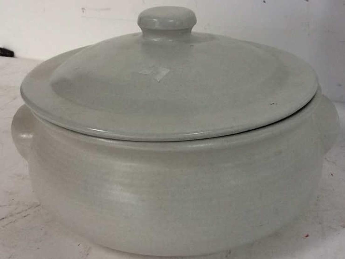 4 Stoneware Tabletop Items - 4