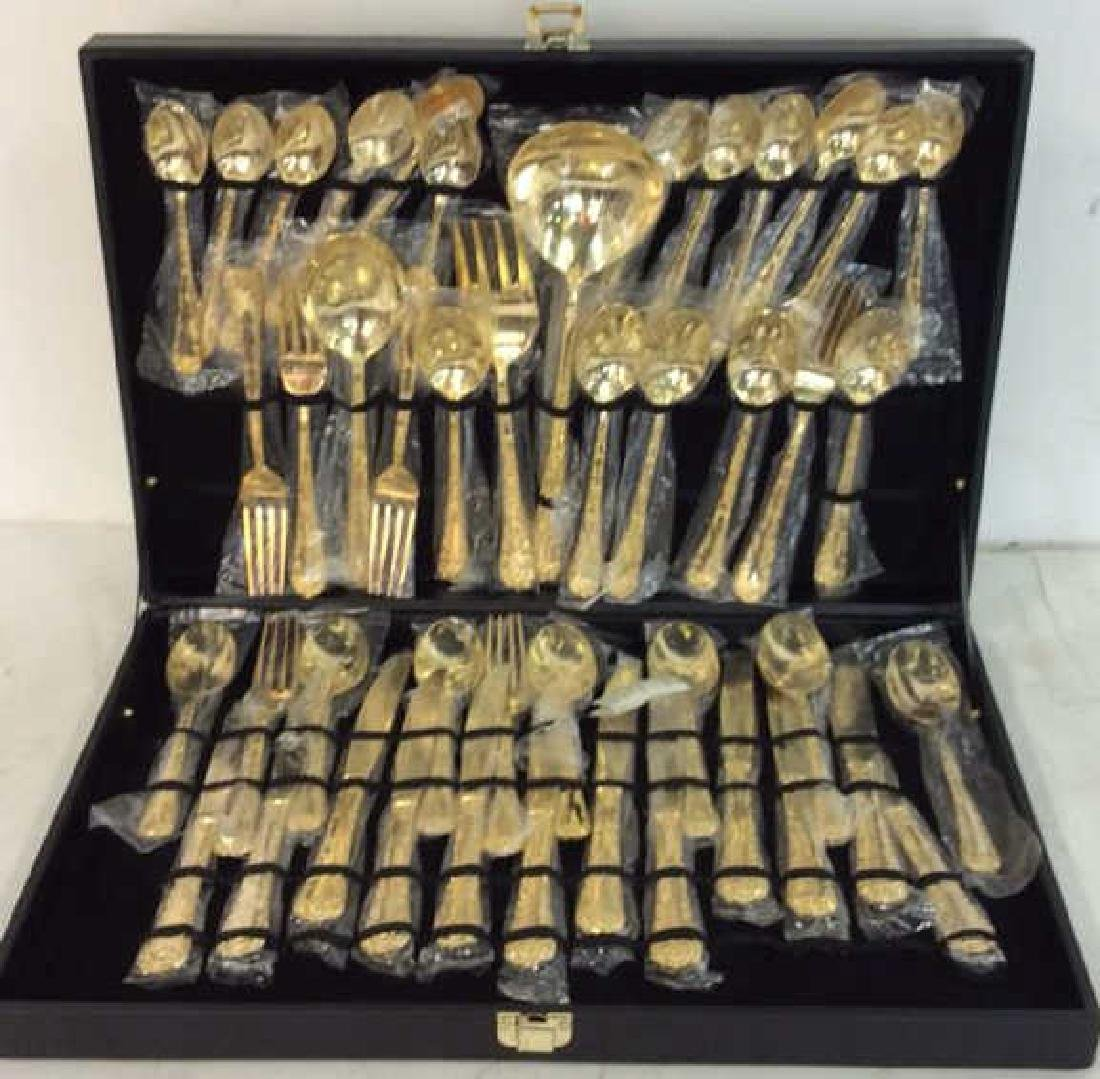 Like New Vermeile Flatware Service for 12