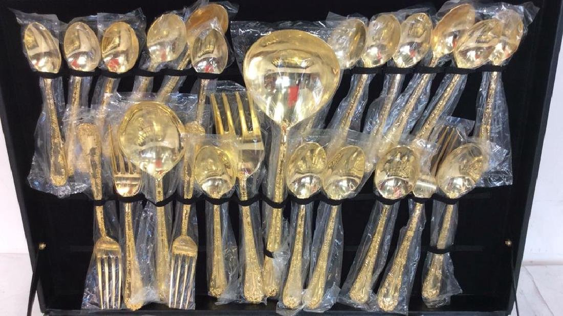 Like New Vermeile Flatware Service for 12 - 2