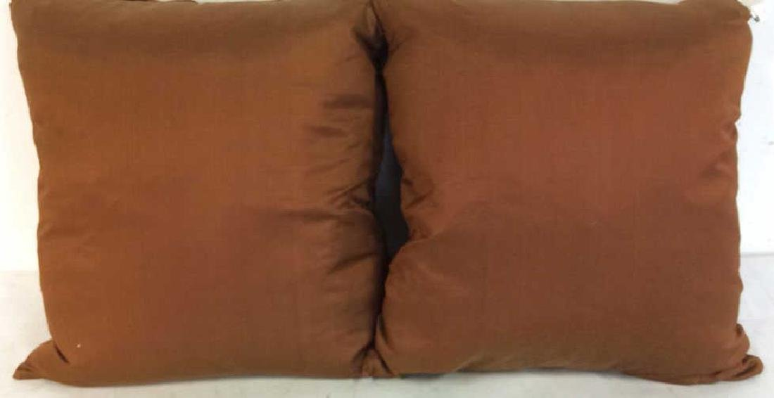Pair Copper Silk Throw Pillows - 6