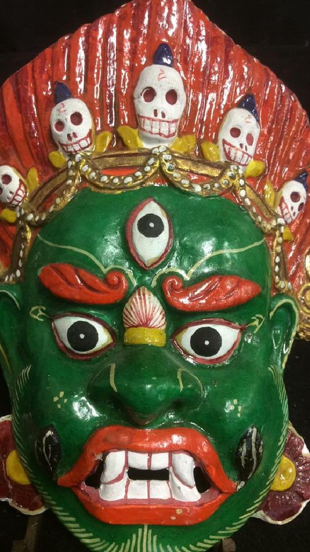 Hand Painted Face Mask Wall Art - 3