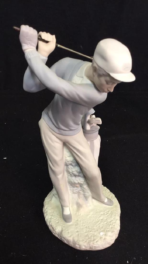 Lladro Golf Player Sculpture - 3