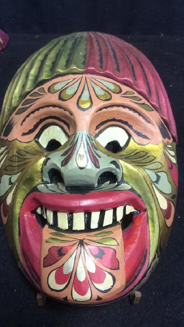 Hand Carved Wood Hand Painted Face Mask