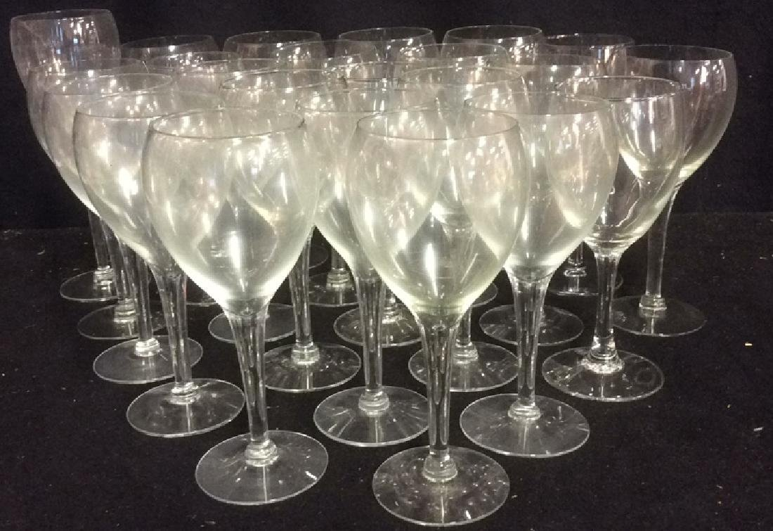 Lot of 22 White Wine Glasses