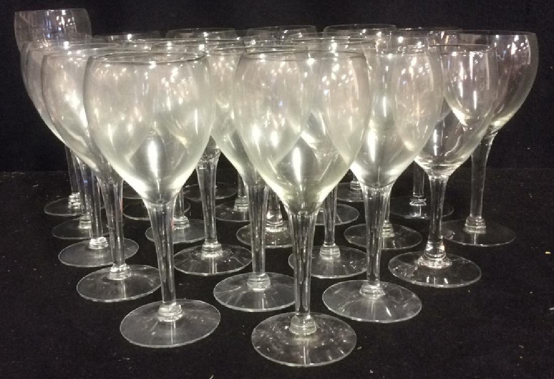 Lot of 22 White Wine Glasses - 2