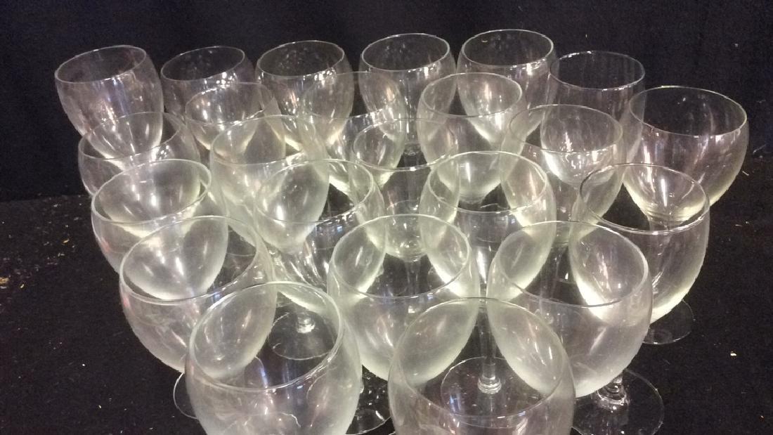 Lot of 22 White Wine Glasses - 3