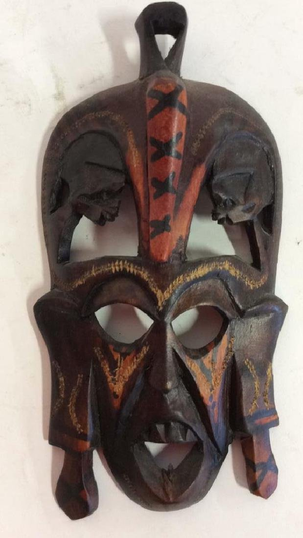 Group carved African Masks and Figures - 2