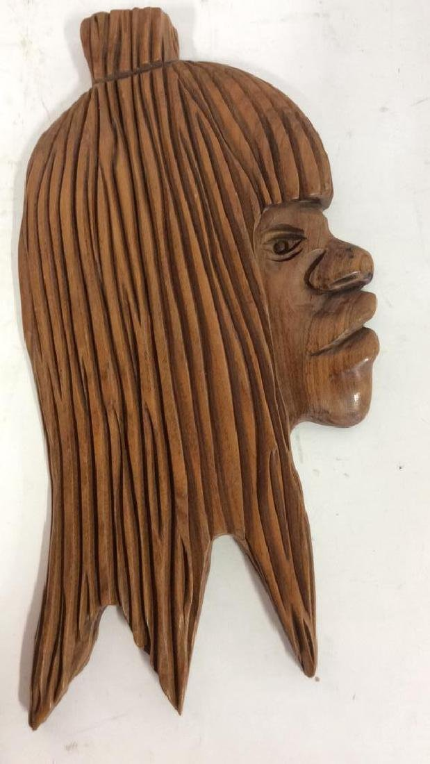 Group carved African Masks and Figures - 5