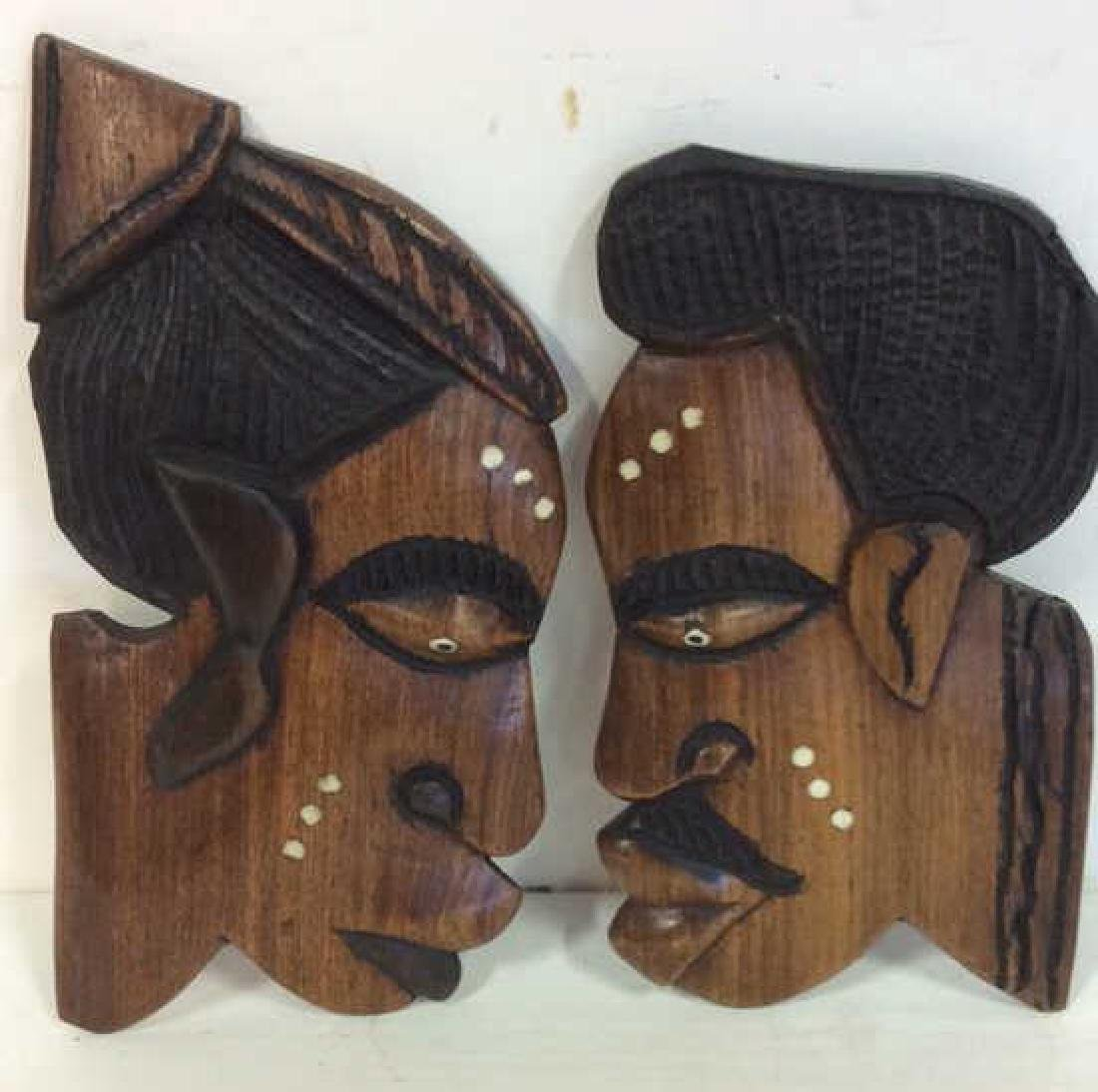 Group carved African Masks and Figures - 7