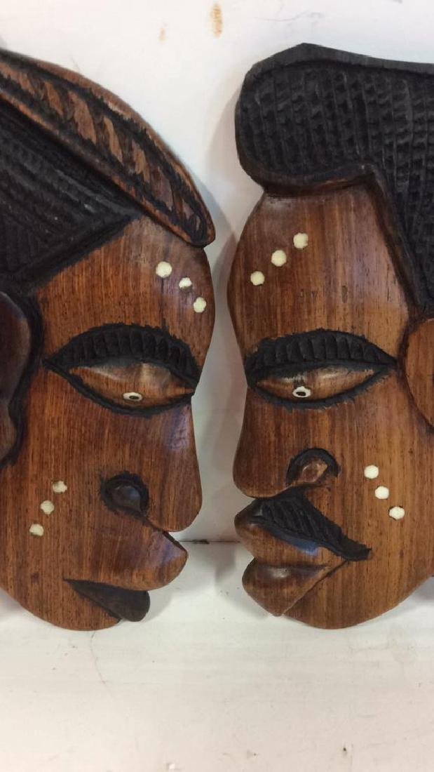 Group carved African Masks and Figures - 8