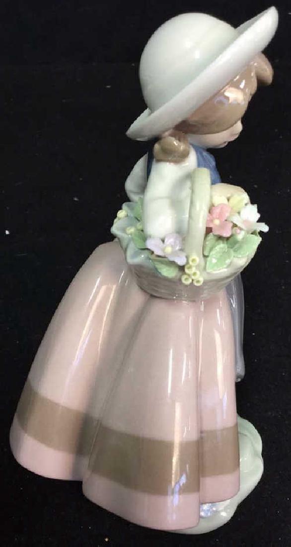 Lladro Figurine Girl With Flower Basket - 7