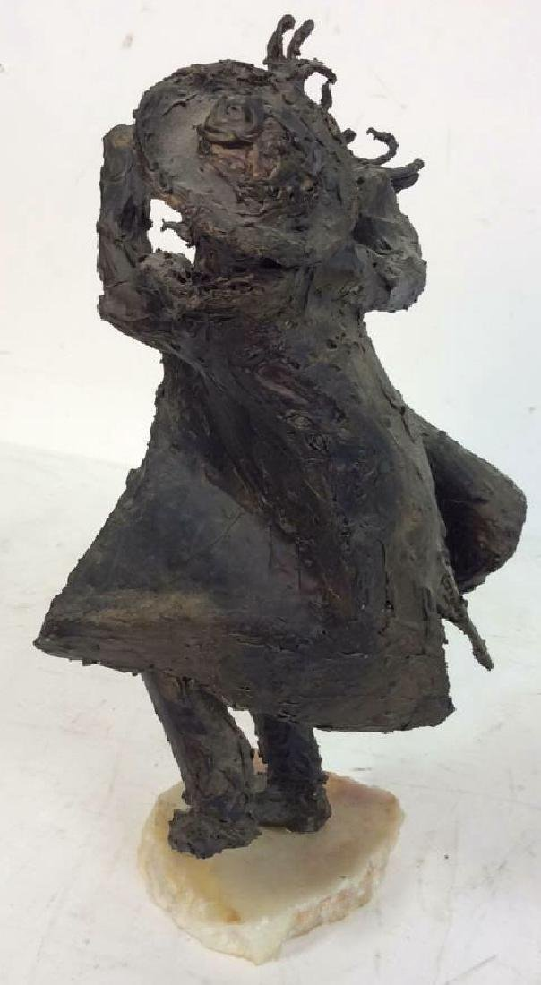 Bert Schwartz Dancing Rabbi Sculpture - 3