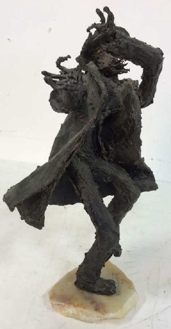 Bert Schwartz Dancing Rabbi Sculpture - 6