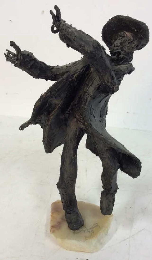 Bert Schwartz Dancing Rabbi Sculpture - 7