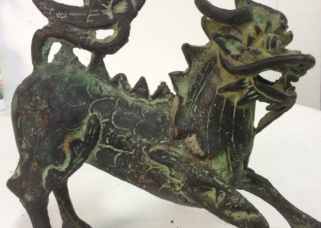Asian Metal Dragon Sculpture - 2