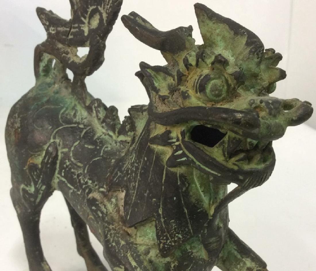 Asian Metal Dragon Sculpture - 4