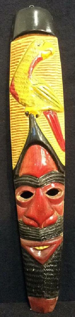 Carved Wood Hand Painted Face Mask