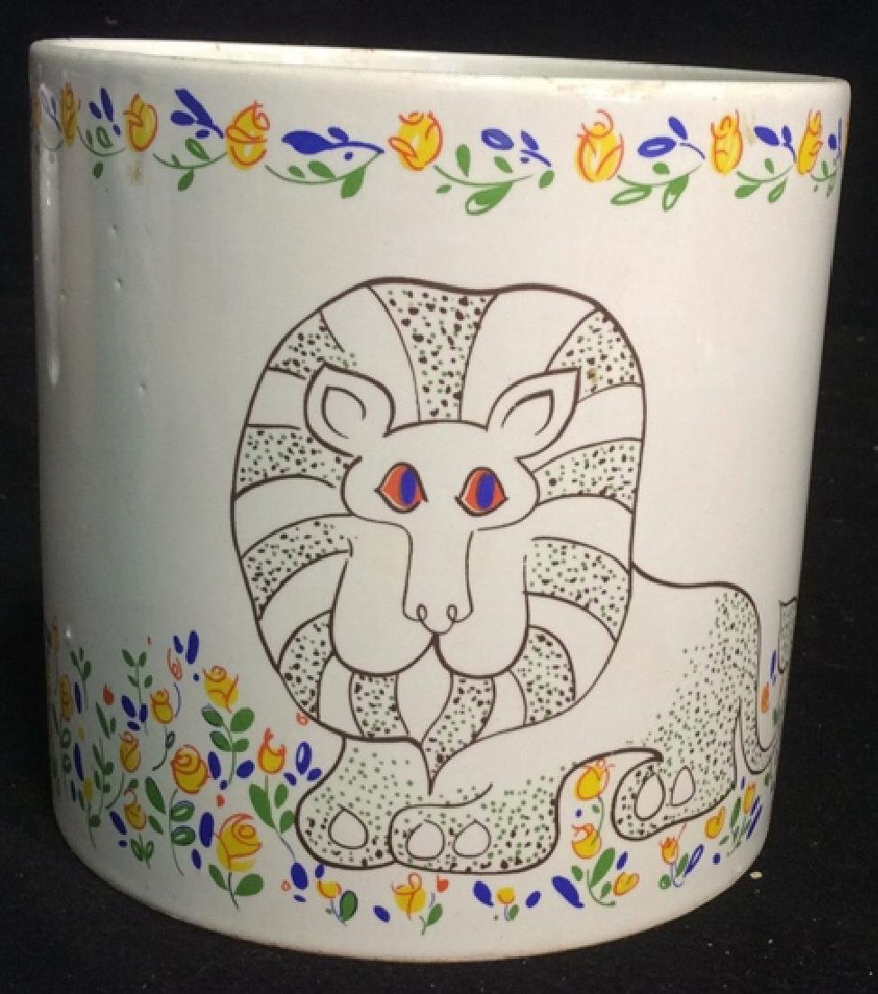 Group Lot 4 Ceramic Planters Pots Pitcher - 4