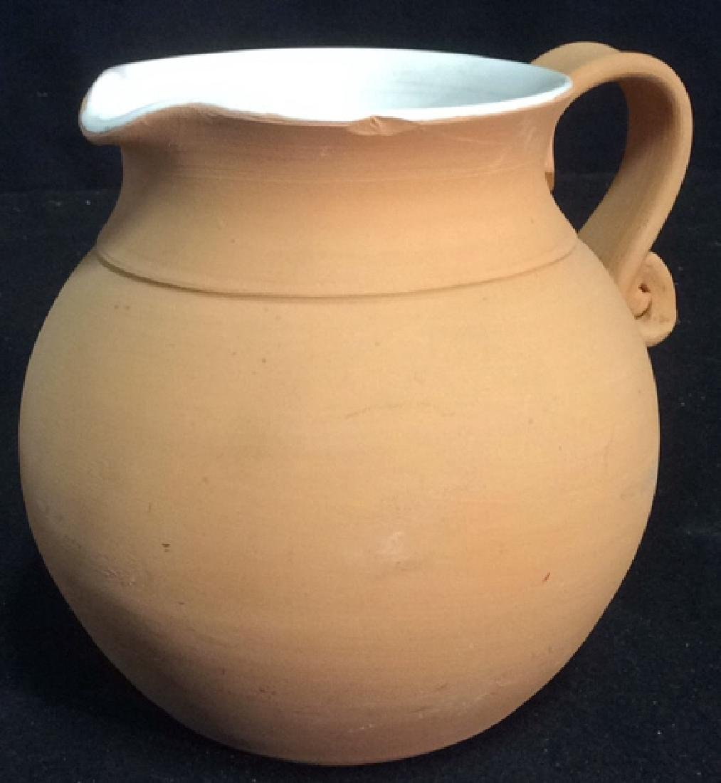Group Lot 4 Ceramic Planters Pots Pitcher - 7