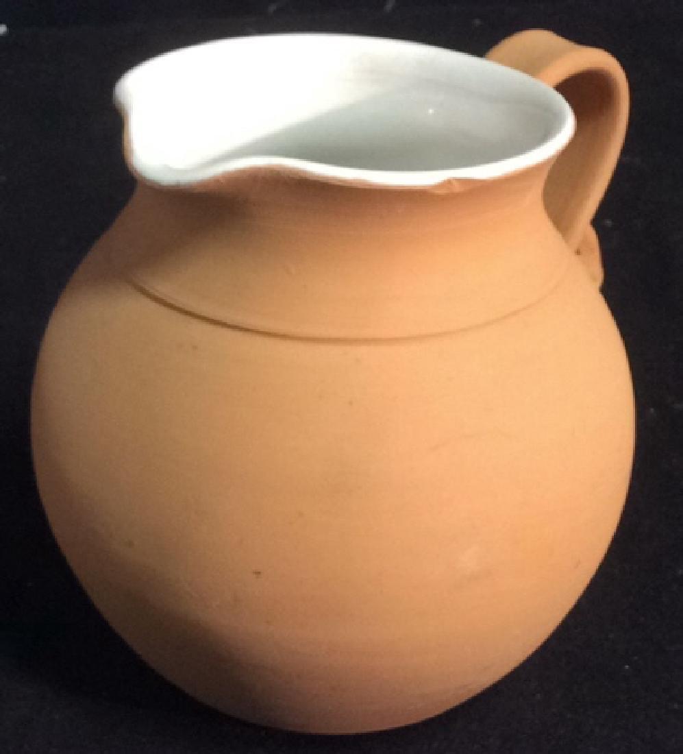 Group Lot 4 Ceramic Planters Pots Pitcher - 8