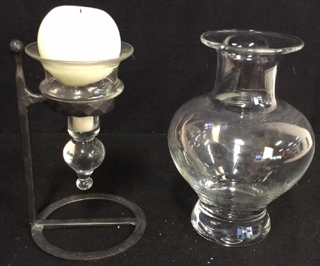 Glass Vase And Ball Candle Holder