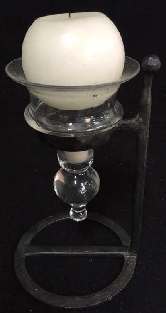 Glass Vase And Ball Candle Holder - 6