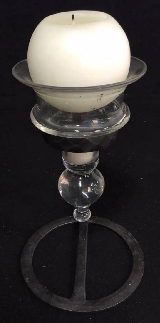 Glass Vase And Ball Candle Holder - 7