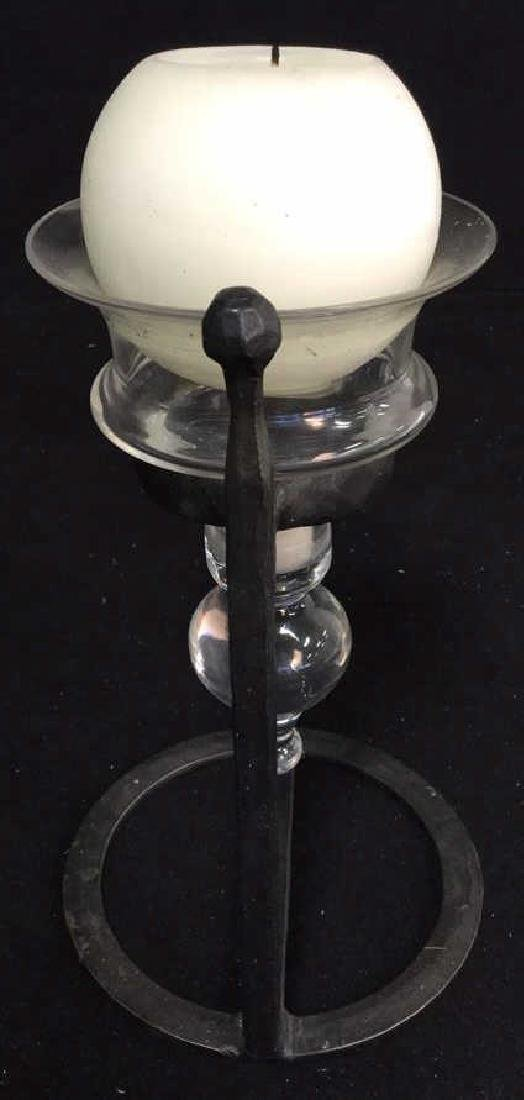 Glass Vase And Ball Candle Holder - 8