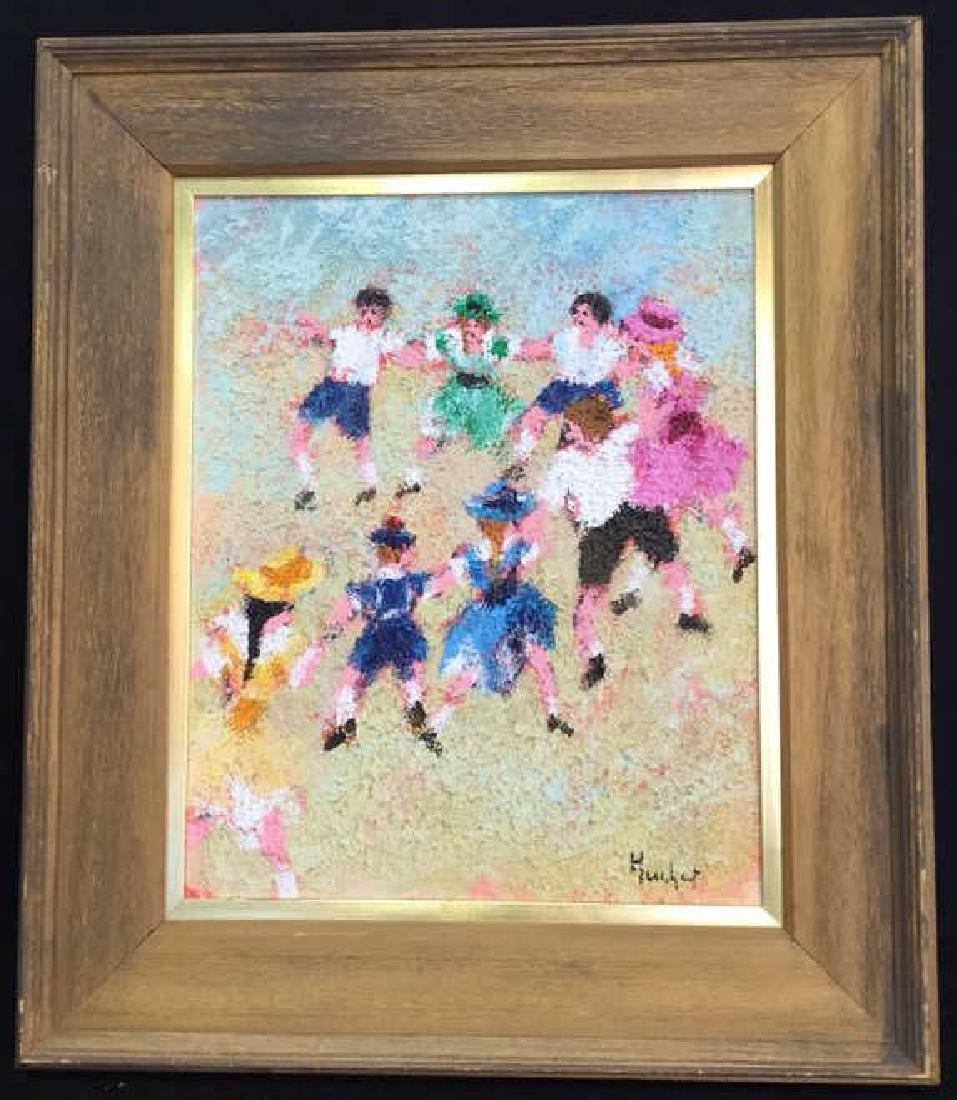 Dancing Rabbis Oil Painting