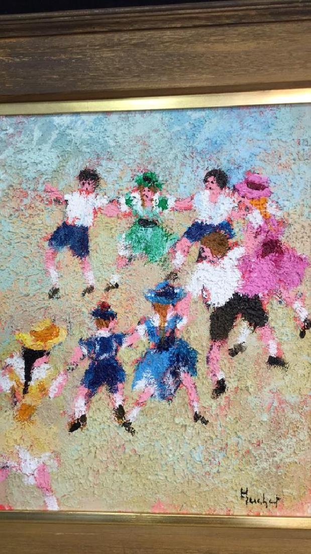 Dancing Rabbis Oil Painting - 2