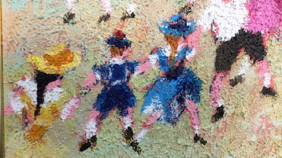 Dancing Rabbis Oil Painting - 4